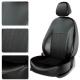 Авточехлы KIA CERATO 2013 Sedan чёрный/чёрный/оранжевый