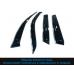 Дефлекторы окон RENAULT LOGAN II Sedan 2014-/с хромированным молдингом/ветровики накладные